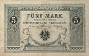 Reichskassenschein 5 Mark von 1874