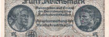 Reichskreditkassenschein für die deutsch besetzen Gebiete