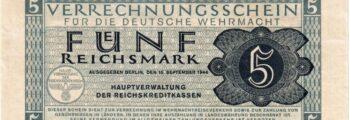 Verrechnungsschein der Wehrmacht