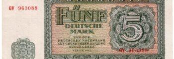 Aktion Blitz: Tausch der Banknoten in der DDR 1957
