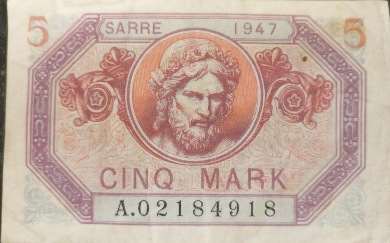 5-Saar-Mark-1947_Vorderseite