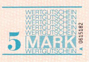5 Mark Wertgutschein DDR Gefängnisgeld Serie A